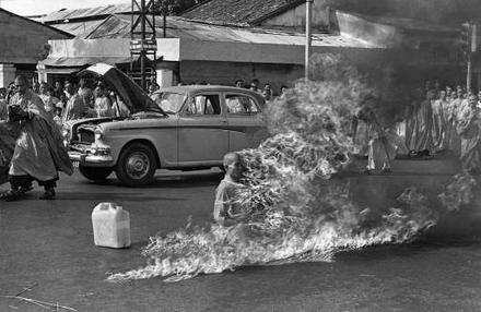 The self-immolation of Thich Quang Duc