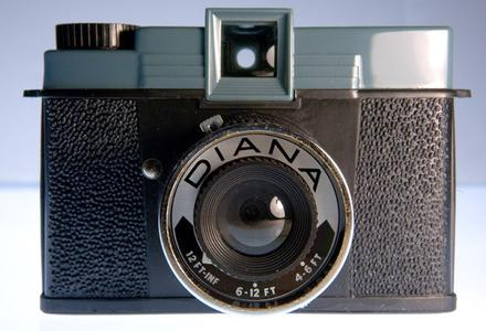 Front view of a Diana Camera.