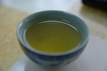 Small cup of green tea