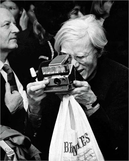 FOR ART'S SAKE Andy Warhol used a Polaroid to capture the glamour of the 1970s